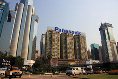 Panasonic Building Hong Kong Stock Images