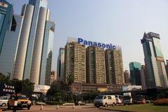 Panasonic che costruisce Hong Kong Immagini Stock