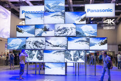 Panasonic 4 K ultra HD TV Royalty Free Stock Photography