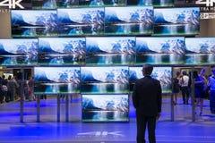 Panasonic 4 K ultra HD TV Royalty Free Stock Image
