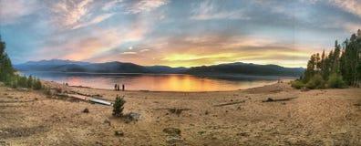 Panasonic See und Sonnenuntergang Stockbilder