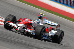 Panasonic Toyota emballant TF107   Photos stock
