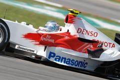Panasonic Toyota que compite con TF107   Foto de archivo libre de regalías