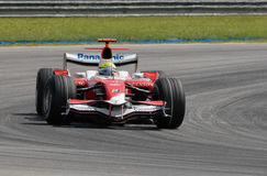 Panasonic Toyota Racing TF107 Ralf Schumacher at S Royalty Free Stock Image