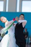 Panasyuk Maksim e programa padrão de Belyankina Liana Perform Juvenile-1 Imagens de Stock Royalty Free
