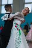 Panasyuk Maksim en Belyankina Liana Perform jeugd-1 Standaardprogramma Stock Fotografie