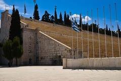 Panathenaic Olympic Stadium in Athens Stock Photos