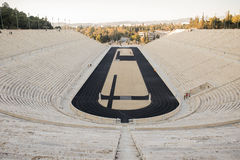 Panathenaic stadion i Aten, Grekland Arkivfoto