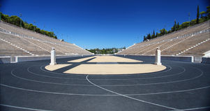 The Panathenaic Stadium in Athens Royalty Free Stock Photo