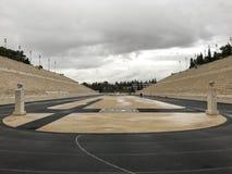 Panathenaic Stadium in Athens, Greece. The olympic Panathenaic Stadium in Athens, Greece Royalty Free Stock Images
