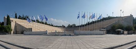 The Panathenaic Stadium or Kallimarmaro. It hosted the opening and closing ceremonies of the stock photo