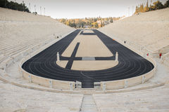 Panathenaic Stadium a multi-purpose stadium in Athens, Greece. The stadium was built on the site of a simple racecourse by the Athenian statesman Lykourgos stock images