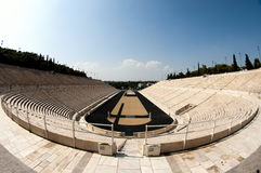 Panathenian Stadium in Athens, fish-eye stock photo