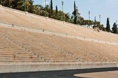 Panathenian Stadium in Athens, Greece. Panathenian Stadium (Panathinaiko Stadio, also known locally as Kallimarmaro), marble athletics stadium built in 1896 for stock photography