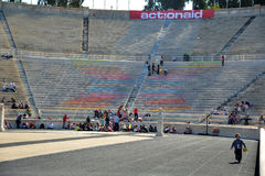Panathinaic体育场雅典希腊Actionaid事件 免版税图库摄影