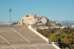 Panathinaic stadionAten Grekland royaltyfri bild