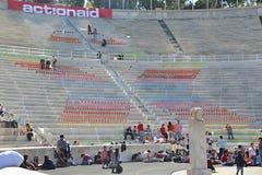 Panathinaic stadium Ateny Grecja Actionaid wydarzenie Obraz Stock