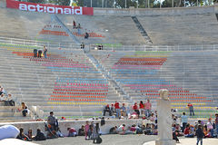 Panathinaic Stadium Athens Greece Actionaid event Stock Image