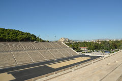 Panathinaic Stadium Athens Greece. Also called Kalimarmaro, The Panathenaic Stadium or Panathinaiko (Greek: Παναθηναϊκό στάδιο, also known as Royalty Free Stock Image
