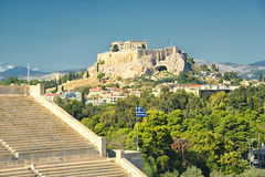 Panathinaic Stadium Athens Greece. Also called Kalimarmaro, The Panathenaic Stadium or Panathinaiko (Greek: Παναθηναϊκό στάδιο, also known as Royalty Free Stock Images