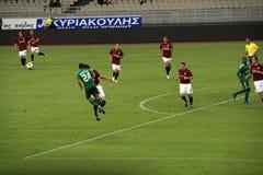 Panathinaikos Atenas contra Sparta Praga Fotografía de archivo