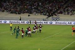 Panathinaikos Atene contro Sparta Praga Fotografie Stock