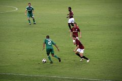 Panathinaikos contre le football de Sparta Images libres de droits