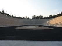 Ancient Olympic stadium, Athens, Greece. Panathinaikos is the first of the stadiums of antiquity. Panathinaikos — stadium, Athens, unique in the world, built Royalty Free Stock Images