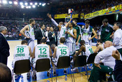 Panathinaikos players Royalty Free Stock Image