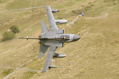 Panavia Tornado GR4. Tornado GR4 low Level during a training sortie in the welsh vallys Royalty Free Stock Photo