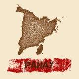Panay martwił mapę Zdjęcie Stock