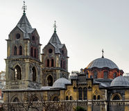 Panayia Evangelistria grekisk ortodox kyrka Fotografering för Bildbyråer