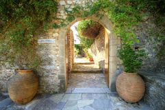 Panayia Pantanassa修道院, Mystras,希腊 免版税库存图片