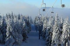 Pancíř,冬天Lanscape, Šumava山,爱森斯坦,捷克 库存图片