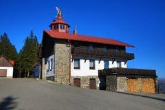 Pancí?, Špi?ák, skitoevlucht, Boheemse Bos (Šumava), Tsjechische Republiek Royalty-vrije Stock Afbeeldingen