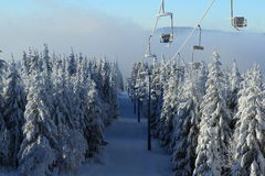 Pancíř, Winter Lanscape, Šumava Mountains, Eisenstein, Czech Republic Stock Images