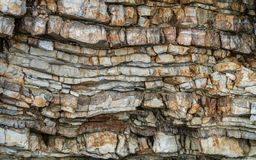 Pancacke aiment des formations de roche photo libre de droits