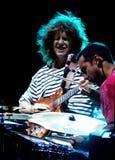 Pancadinha Metheny e Antonio Sánchez no jazz de Úmbria Fotografia de Stock Royalty Free