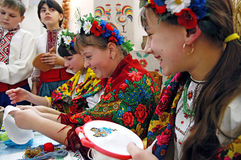 Pancake. KYIV, UKRAINE- FEBRUARY 17: Ukraine national complex hosted the opening of the Pancake Week fair exhibition on Feb 17, 2007 in Kyiv, Ukraine Stock Photo