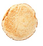 Pancake. Isolated on the white background stock photography