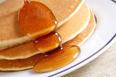 Pancake. And some sweet honey Royalty Free Stock Photo
