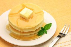 Pancake. I hang butter and syrup to the pancake and I took it Royalty Free Stock Photography