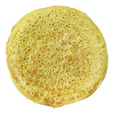 Pancake. Isolated pancake with clipping path royalty free stock images