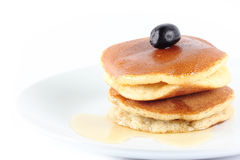 Pancake. On a white background Royalty Free Stock Images