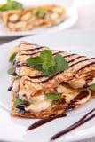 Pancake. Close up on banana pancake Royalty Free Stock Image
