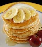 Pancake 6 della banana Fotografia Stock Libera da Diritti