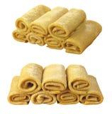 Pancake accorciati da un tubo Fotografia Stock Libera da Diritti
