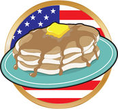 Pancake American Flag royalty free illustration