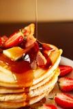 Pancake americani Immagini Stock