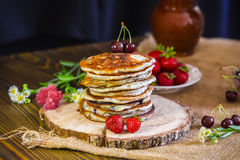 Pancake americani Fotografia Stock Libera da Diritti